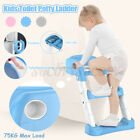 Kids Training Toilet Portable Potty Seat Chair Baby Toddler Ladder Step Up  image