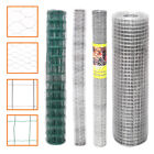 Roll Grid Mesh Galvanised/PVC Chicken Wire Net Garden Landscaping Fence Aviary