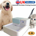 Dog Cat Automatic Water Drinking Fountain Bowl Drinking Filter LED+UV Sterilize