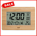 Digital Wall Clock LCD Big Large Number Time Temperature Calendar Alarm Clock