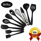 Silicone Kitchen Utensils Set of 10 Heat Resistant Non-Stick Cooking Tools US