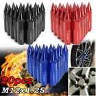 20pcs M12X1.25 Aluminum Spiked 60mm Car Extended Tuner Wheels / Rims Lug Nuts