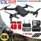 GPS WIFI 4K ID Drone X Pro  FPV Camera 3 Batteries Foldable Selfie Quadcopter UK