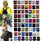 Tube Scarf Bandana Mouth Face Mask Neck Cover Gaiter Black Multi-use Head Wear