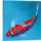 ARTCANVAS Kinginrin Koi Carp Fish Japan China Asia Canvas Art Print
