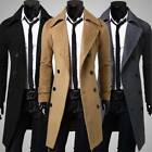 Kyпить NEW Mens Fashion Double Breasted Long Overcoat Trench Coat Jacket Outwear Winter на еВаy.соm