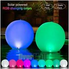 "2x 14"" Solar LED Floating Ball Night Lights Pool Lamp Color Changing Waterproof $22.91 USD on eBay"
