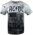 ACDC Mens S/S T-Shirt BACK IN BLACK USA TOUR Music TIE DYE Vtg XL-2XL $30 image