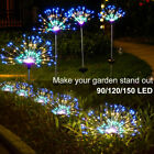 150/90 LED Solar Firework Lights Waterproof Outdoor Path Lawn Garden Decor Lamp