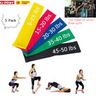 5 Pack Resistance Bands Loop Fitness Yoga with Ice Cold Instant Cooling Towel US image