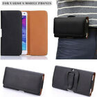 PU Leather Horizontal Belt Clip Pouch Case Cover For Mobile Phone 3.5-6.3 inch