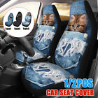 1/2Pcs Car Front Seat Cover Protector Cat Dog Printed Truck Van SUV Universal $16.14 CAD on eBay