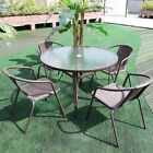 Garden Furniture Set Outdoor 2/4/6 Seats Round/suqare Table Chairs Parasol Hole