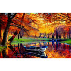 Drill Diamond Painting Kit Like Cross Stitch Late Autumn Woods Pool Boat ZB042E $17.75 USD on eBay