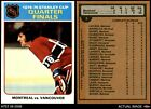 1975 Topps #5 Quarter Finals  Canadiens / Maple Leafs 7 - NMIce Hockey Cards - 216