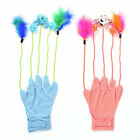 Interactive Teaser Cat Glove Toy Feather Toy Cartoon Doll Toy with Bell Balls UK