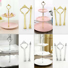 2/3 Tier Cake Plate Stand Handle Fittings Holder Fruit Server Display Durable