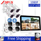 "ANRAN 2Way Audio Outdoor Wireless Home Security Camera System with 12"" Monitor"