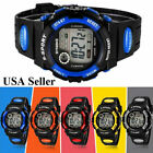 New Child Boys Girls Kids Sports Digital Watch LED Waterproof Watches US FAST