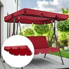 Double Outdoor Garden Swing Chair Cover Canopy Replacement Sun Shade Cloth AM