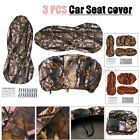 Universal Camouflage Car Seat Cover Full Sets protect Mat For Pickup Truck SUV