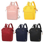 Vs2# Pure Color Mommy Travel Backpacks Big Nylon Maternity Nappy Top-handle Bags