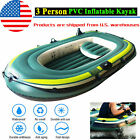 2/3 Person PVC Inflatable Boat Fishing Boat Kayak Canoe Rowing Air Boat Drifting