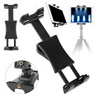 "Universal Tablet Tripod Mount Clip Holder Bracket 1/4""Thread Adapter For iPad Ta"