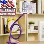 Flexible 360 Clip Mobile Cell Phone Holder Lazy Bed desk Bracket Mount Stand New