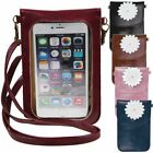 Woman Touch Screen Cell Phone Purse Transparent Simple  Leather Bag Wallets