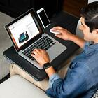 LapGear Home Office Pro Lap Desk with Wrist Rest, Mouse Pad, and Black Carbon