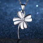 Four Leaf Clover Pendant 925 Sterling Silver Necklace Chain Jewellery Women Gift