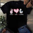 Peace Love Llamas Gift For Girls Boys Kids Women Men Llama Gift T-Shirt