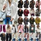 Women Fluffy Faux Fur Coat Jacket Overcoat Thick Warm Cocktail Party Outwear Top