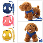 Soft Summer Walking Dog Traction Leash Mesh Plain Harness Vest Pet Chest Straps