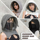 2PC Full Protective Face Wear Clear Window Hooded Adults Face Mask Removable Hat