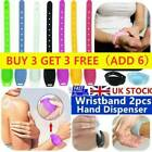 Uk Portable Silicone Soap Bracelet Wristband Hand Dispenser Band Squeeze Bottle!