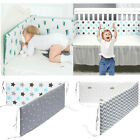 Baby Crib Bumper Thicken Pad Breathable Comfy Toddler Bed Cot Protector Cotton