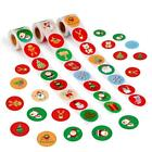500pcs/Roll Christmas Gift Packaging Stickers Cartoon Snowman Claus Seal Labels