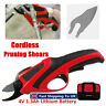 4V Battery Electric Cordless Pruning Shears Secateur Branch Pruner w/ LED  US1