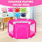 6 Sided Baby Toddler Kids Playpen Playinghouse Interactive Pool Tent