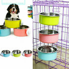 1pc Cage Hang-on Bowl Stable Dog Circle Bowl Cat Feeder Pet Feeder Bowl Plate