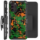 Holster Case For Galaxy Note20/ Note 20 Ultra 5G Phone Cover - ORANGE GREEN CAMO