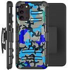 Holster Case For Galaxy Note20/ Note 20 Ultra 5G Phone Cover - BLUE STYLISH CAMO