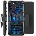 Holster Case For Galaxy Note20 / Note20 Ultra 5G Phone Cover - BLUE CAMO BADGE