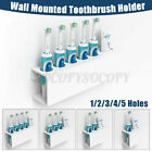 Wall Mounted Electric Toothbrush + Toothpaste Holder Bathroom Organiser