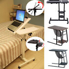 Adjustable Rolling Laptop Desk Over Sofa Bed Tray Height Notebook Table Stand US