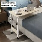 Lifting Bedside Laptop Computer Desk Stand Adjustable Mobile Rolling Table Cart