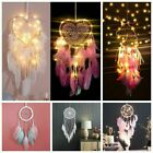 Led Light Up Dream Catcher Hanging Decor Bedroom Background Dreamcatcher Feather