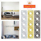 10/30pcs 3d Mirror Tile Wall Stickers Removable Acrylic Decal Art Home Decor Diy